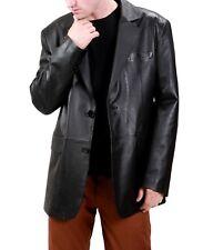 Brand New Men's Genuine Lambskin Leather Long Blazer Blazer Jacket Coat BL18