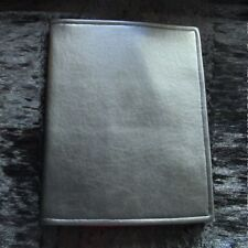 Large handmade plain black leatherette rpg manual / book notepad cover