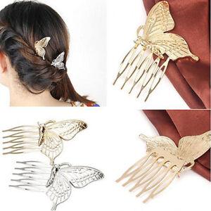 Peigne Epingle Cheveux Papillon Accessoire Cheveux Mariée Mariage Bijoux Élégant