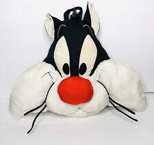 Vintage Sylvester Head Plush 18� Face Pillow Stuffed Animal Looney Tunes