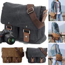 Vintage Waterproof Canvas DSLR SLR Shockproof Camera Shoulder Messenger Bag