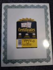 12 Packs Of 25 (300 Certificates) Geographics Certificates Green 8-1/2 X 12