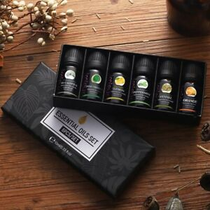10ml 6pcs/kit Gift Set Pure Essential Oils for Aroma Diffusers Pure Aromatherapy