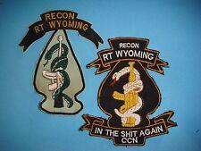 VIETNAM WAR SET OF 2 US PATCHES SOG RT WYOMING