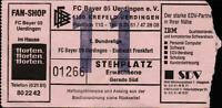 Ticket BL 89/90 FC Bayer 05 Uerdingen - Eintracht Frankfurt, 03.03.1990