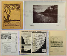 Afrikanischer Heimatkalender 1937 Illustrationen Kalendarium Deutsche Kolonien