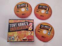 Tony Hawk's Underground 2 (PC, 2004) Hawk SkateBoarding Video Rare Game Good