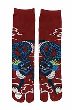 Japanese Tabi Socks Geisha / Ninja Flip-Flop Socks: Dragon