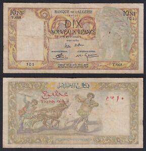 Algeria 10 nouveaux francs 1960 MB/F  B-07