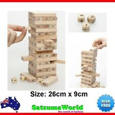 Wooden Jenga stacking game for two players board game drinking game toy family