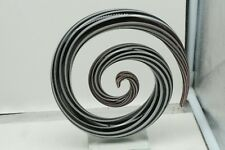Murano Glass Orig Label Modernist Abstract Swirl Sculpture PURPLE AND WHITE