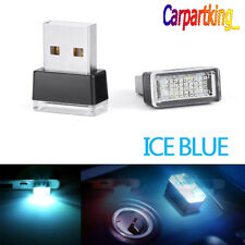 Mini USB Blue LED Car Interior Light Neon Atmosphere Ambient Lamp 1PCS