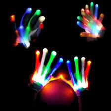 Electro Skeleton LED Rave Raver Dance Gloves Rave Party Flashing Fun ~