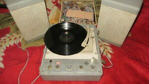 Vintage 1958 RCA LH/17 Italiana Roma Turntable portable suitcase made in Italy