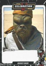 Dickey Beer Official Pix Star Wars Autograph Trading Card Celebration V Exc