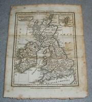 Antique Great Britain Ireland Map Scotland England Wales UK Baldwin Cradock 1823