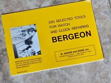 Bergeon watch tool 1969 Swiss catalog of 250 tools for watch and clock repair