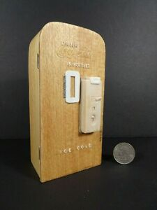 Vintage Handcrafted 1:12 Scale 1950's Coke Cola Machine Prototype by Ann Maselli
