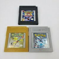Pokemon Gold & Silver Version & Trading Card Game Nintendo Game Boy Color Tested
