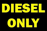Sticker decal vinyl car diesel only rental vehicle black yellow