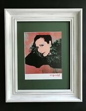 ANDY WARHOL ORIGINAL 1984 SIGNED AWESOME PRINT MATTED 11X14 + HELENE ROCHAS