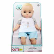 "Perfectly Cute My Sweet Baby Blonde Baby BOY Doll 14"" Happy Rocket Ship Shirt"