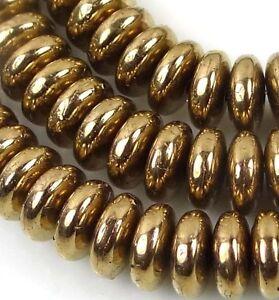 50 Czech Glass Rondelle Beads Metallic Suede Pink 6x2mm