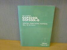 Okuma CNC Systems OSP5020L OSP500L-G Special Functions manual No.2 (11899)