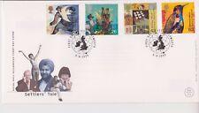 Risolte GB Royal mail FDC COVER 1999 Coloni racconto del timbro Set Plymouth PMK