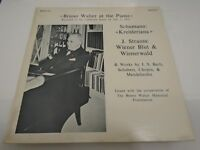 RECORD BRUNO WALTER 1952 SCHUMANN KREISLERIANA STRAUSS BLUT WIENERWALD BACH MONO