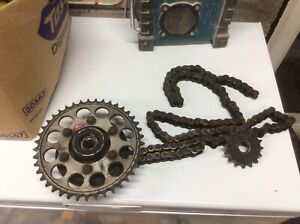 KAWASAKI ZX9R C1 REAR SPROCKET CARRIER With chain and sprockets