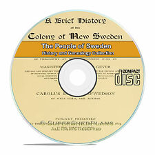 Sweden, People Cities and Family Tree History and Genealogy 27 Books CD B27