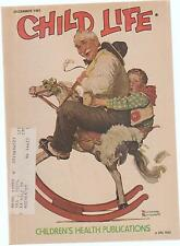 Child Life Magazine Christmas Cover Norman Rockwell December 1981