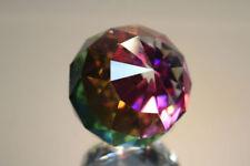 Swarovski Silver Crystal Round Ball Pyramid Paperweight #7404Nr50 Brand Nib Rare