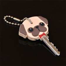 Silicone Key Ring Cap Head Cover Keychain Case Shell Dog Animal Shape ZT