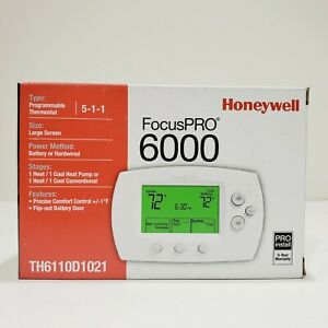 Honeywell FocusPRO 6000 Programmable Digital Thermostat  #TH6110D1021
