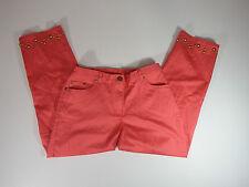 Brielle Blvd. Womens Mango Capri Pants Gold Beaded Bottom hems sz 8