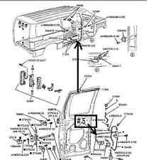 1992-2012 FORD VAN DOOR  CABLE
