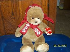 ARIZONA JEANS WINTER BROWN TEDDY BEAR PLUSH IN HAT ANS SCARF