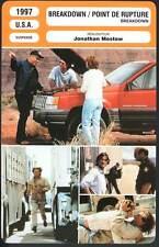 BREAKDOWN POINT DE RUPTURE - Russell,Quinlan,Mostow (Fiche Cinéma) 1997