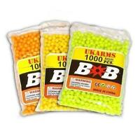 1000 AIRSOFT BB PELLETS 6mm .12g BBs FAST SHIPPING Pistol Gun Sniper Rifle AMMO