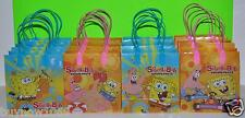 12 PC SPONGE BOB  CANDY BAGS GOODY CANDY LOOT BAG FAVORS  PARTY BAGS NICK JR