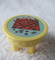 New! FISHER PRICE Loving Family Dollhouse YELLOW CHECKER BOARD TABLE Checkers