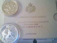 2004 SAN MARINO 5 + 10 euro PROOF Calcio Germania 2006