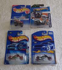 Hot Wheels Lot of 4 Toys Cars Motorcycles Boss Hoss Blast Lane Purple Red Flyer