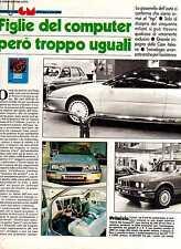 Z12 Ritaglio Clipping 1986 Speciale Salone di Torino Auto