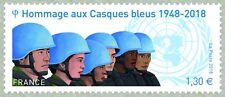 france 2018 Tribute peacekeepers 1948 blue helmet Casque bleu soldier uniform 1v