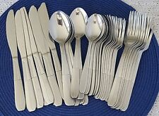 Cambridge Asher Sand Flatware Stainless Steel Mixed Lot of 37 Pieces