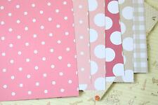 Retro Pink scrapbooking paper chevron dots summer craft 250gsm fancy cardstock