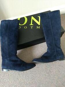 Jones the bootmaker Suede Knee High Boots - Navy Blue - 7 (40)